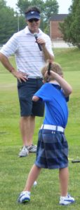 One-armed golfer 5-yearold Tommy Morrissey, and his father Joe, presented an inspiring clinic for families during the 2016 Pepsi Little People's.